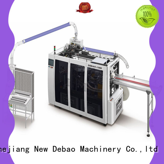 New Debao Machinery speed paper bowl machine price for coffee cup