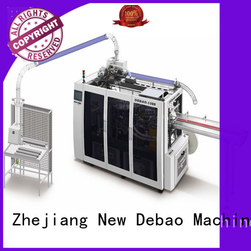 New Debao Machinery debao paper cup machine for sale for super market