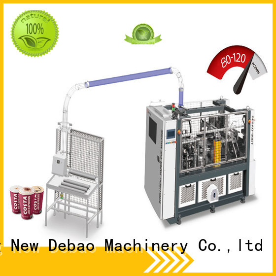 New Debao Machinery automatic ripple wall paper cup machine price for coffee cup