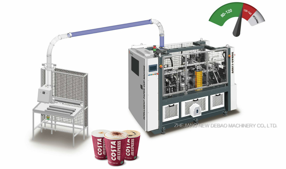High Speed Intelligent Paper Cup Sleeve Machine DEBAO-118DT