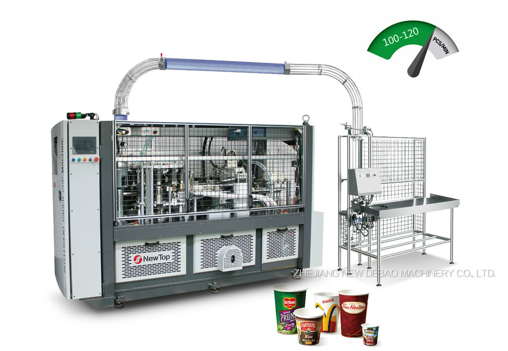 High Speed Intelligent Paper Cup Machine DEBAO-118S+ZY