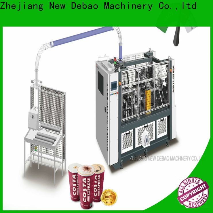 New Debao Machinery disposable double wall paper cup making machine factory for super market