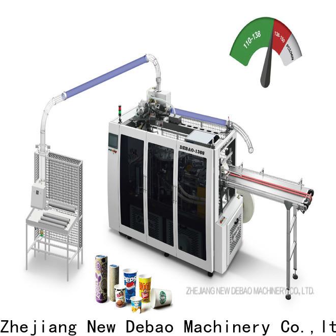 New Debao Machinery paper plates making machines price for super market