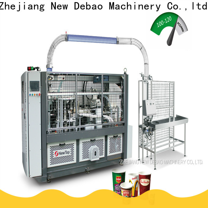 New Debao Machinery speed paper cups making machine cost and project details company for coffee cup